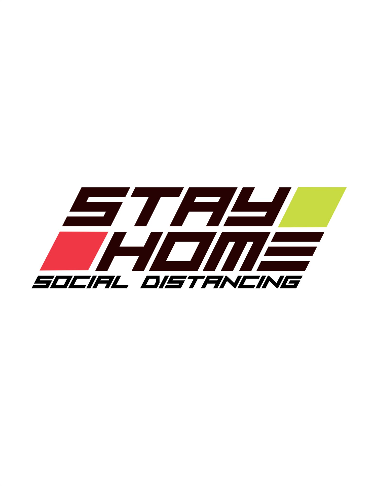 Stay Home T-Shirt Design Template