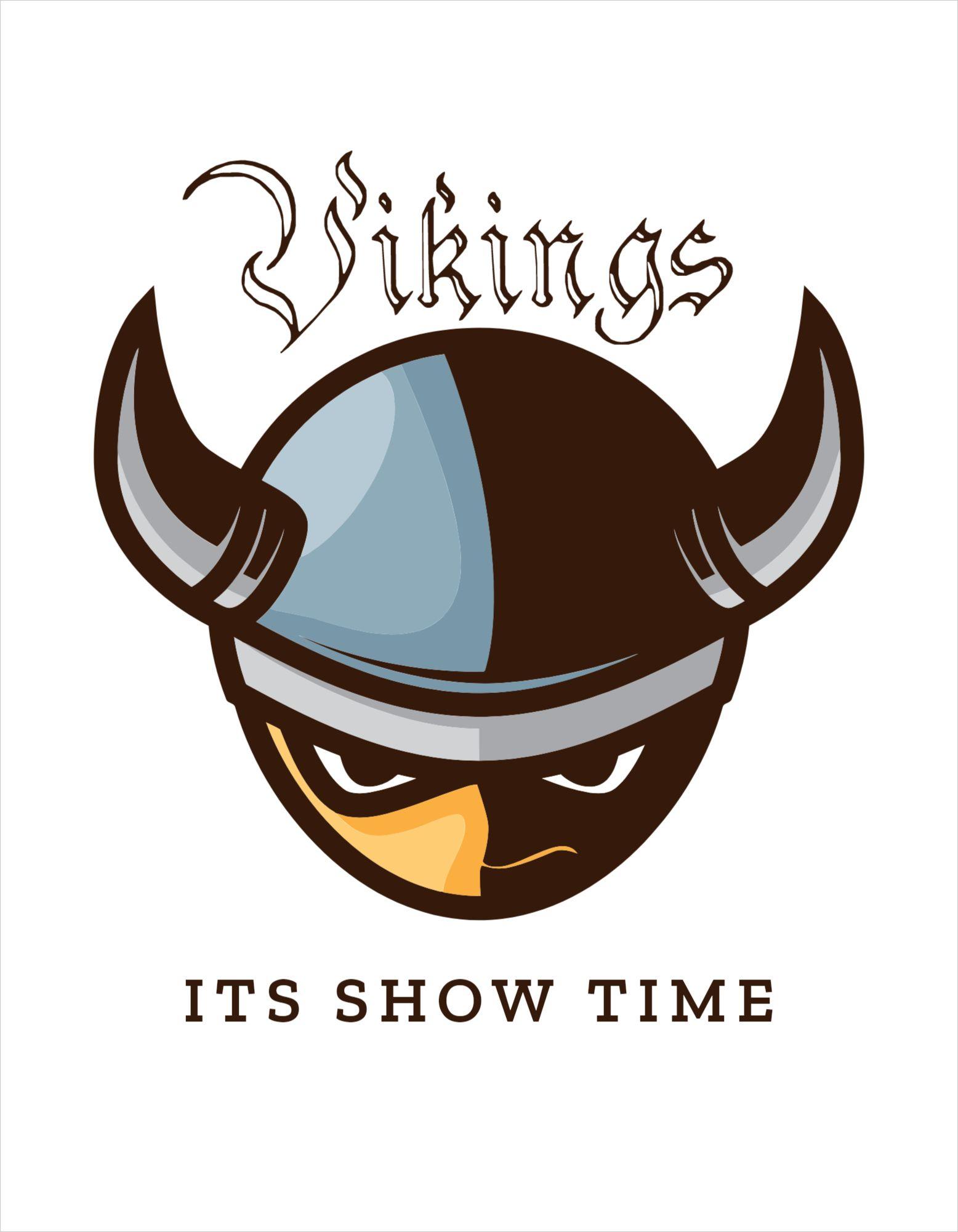 Vikings Themed T-Shirt Design Template