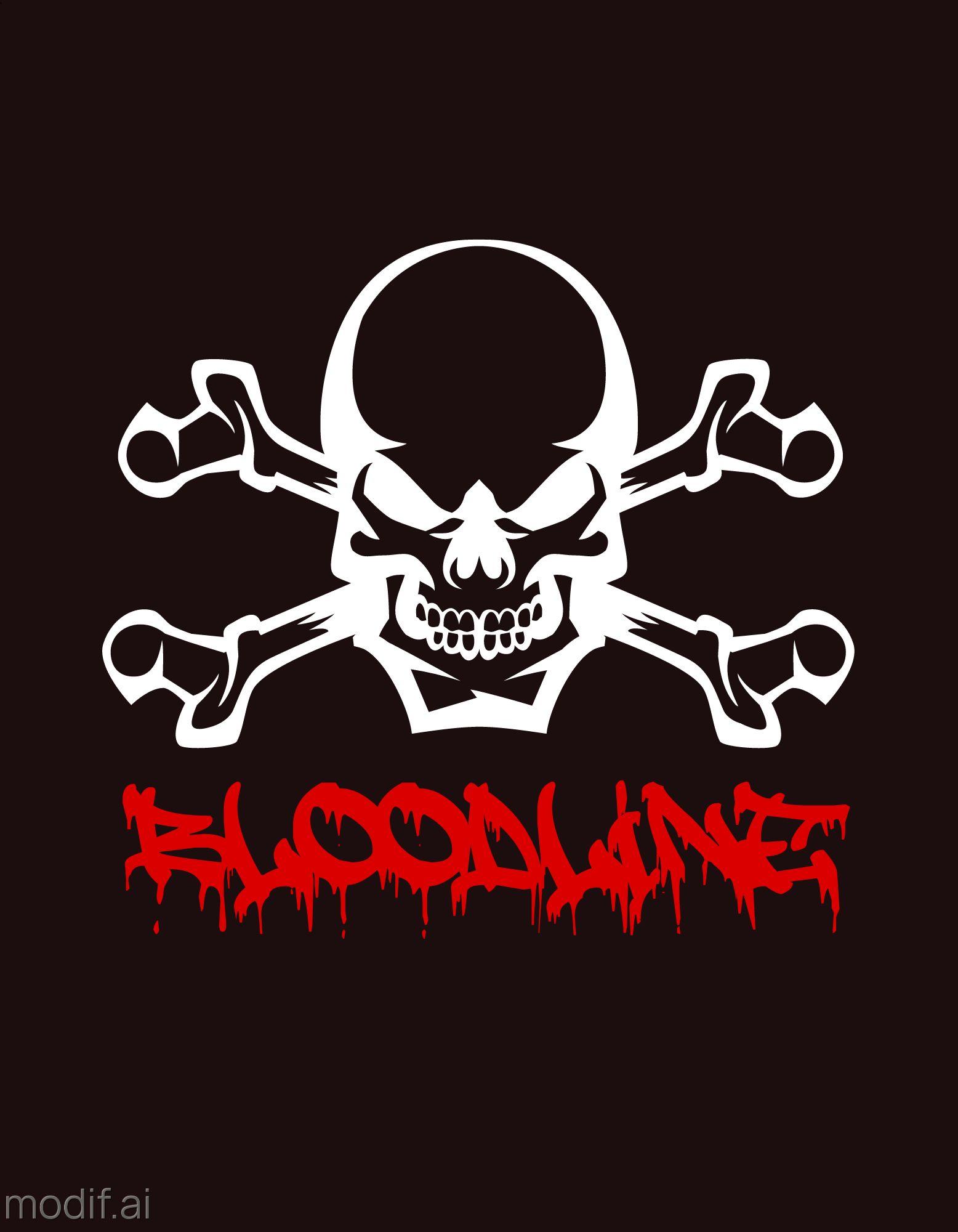 Skull Themed T-Shirt Design Template