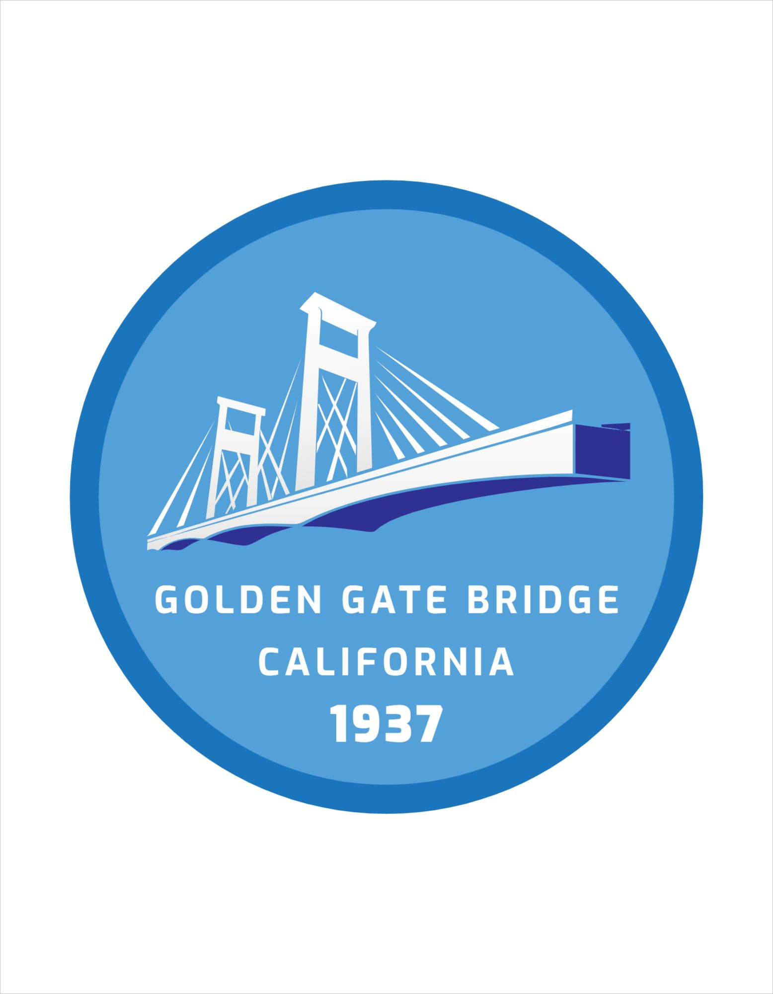 Golden Gate Bridge T-Shirt Design Template