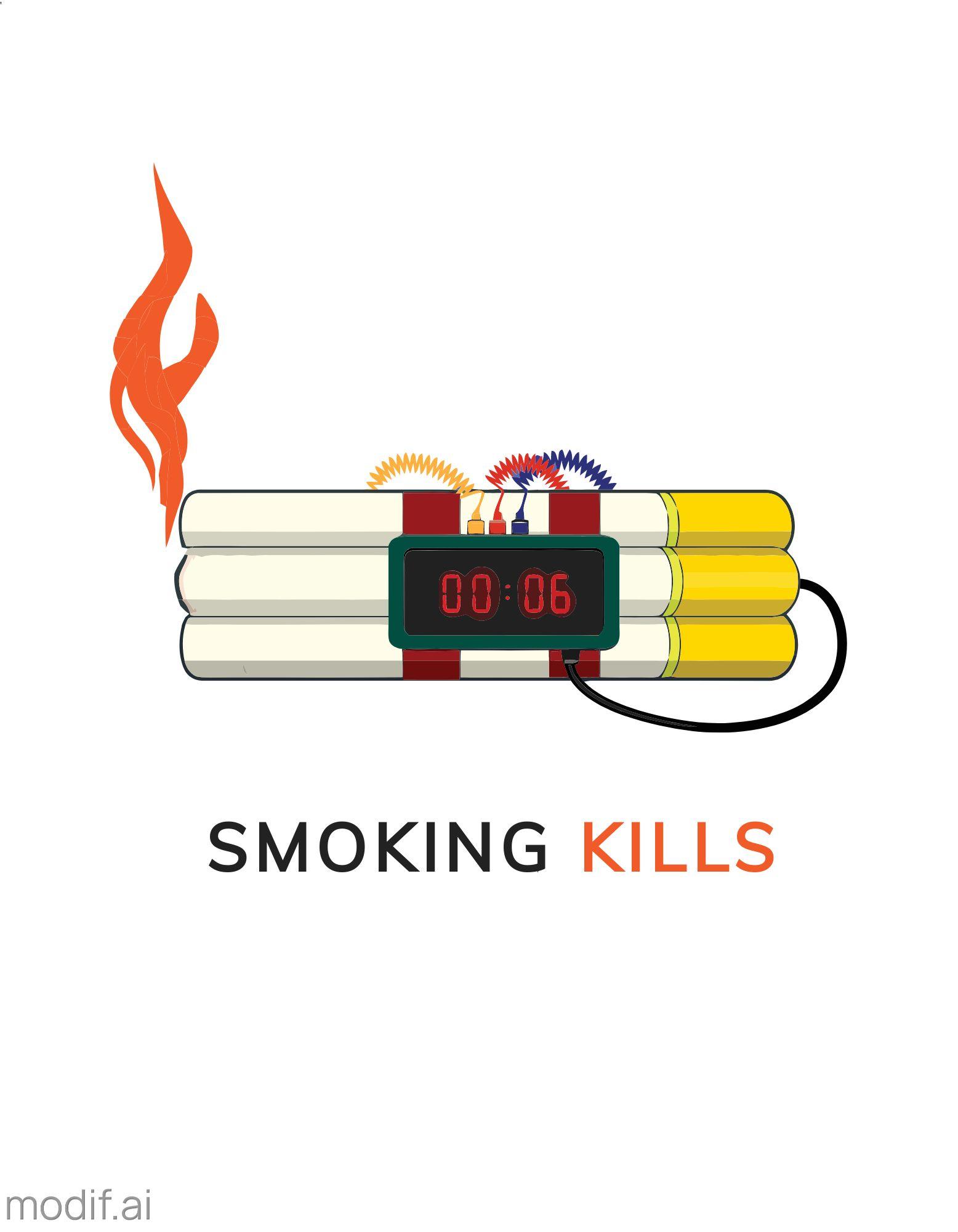 Anti-Smoking T-Shirt Design Template