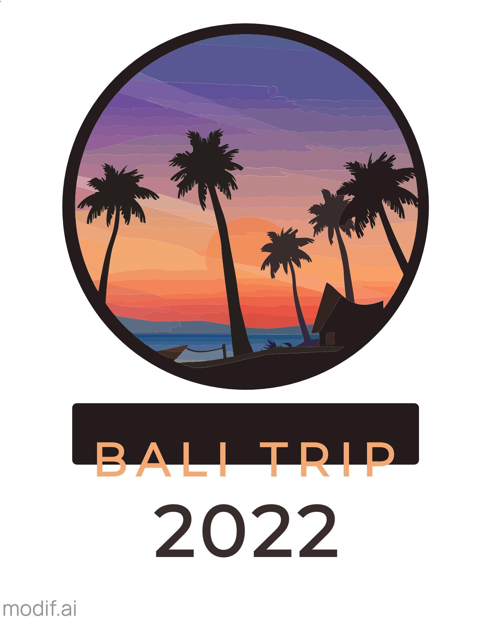Vacation Trip T-Shirt Design Template