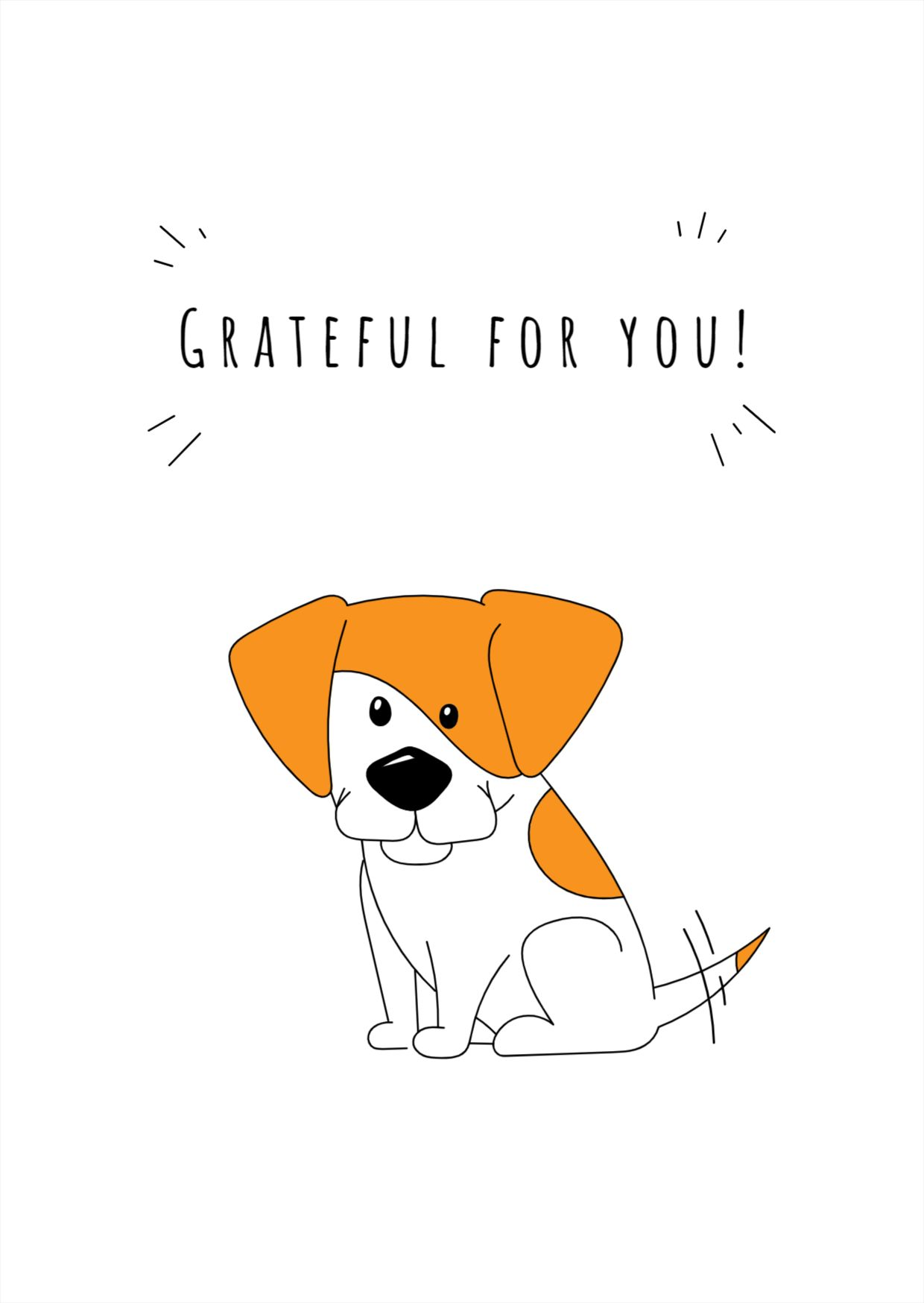 Grateful for You Greeting Card Design Template