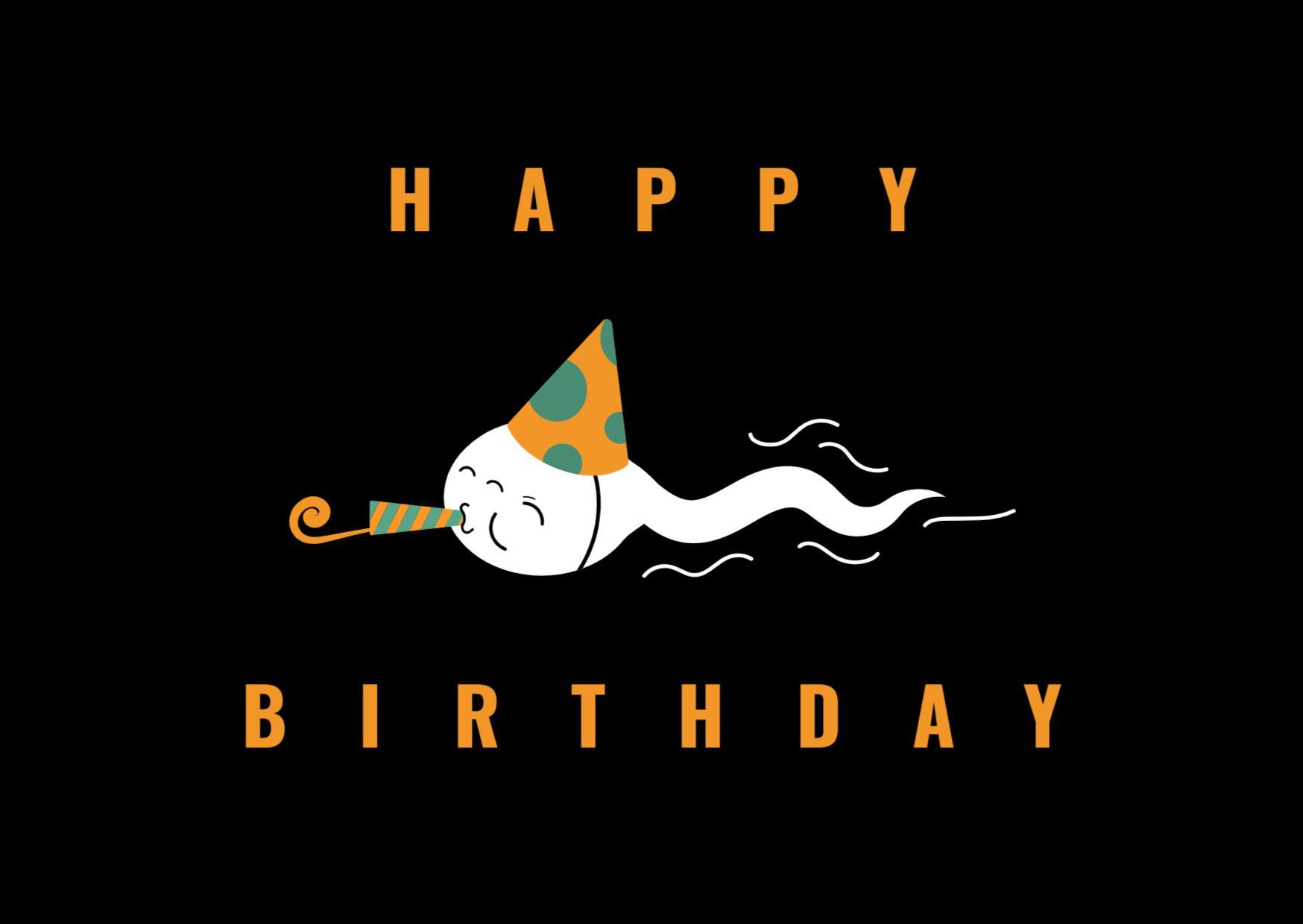 Happy Birthday Greeting Card Design Template