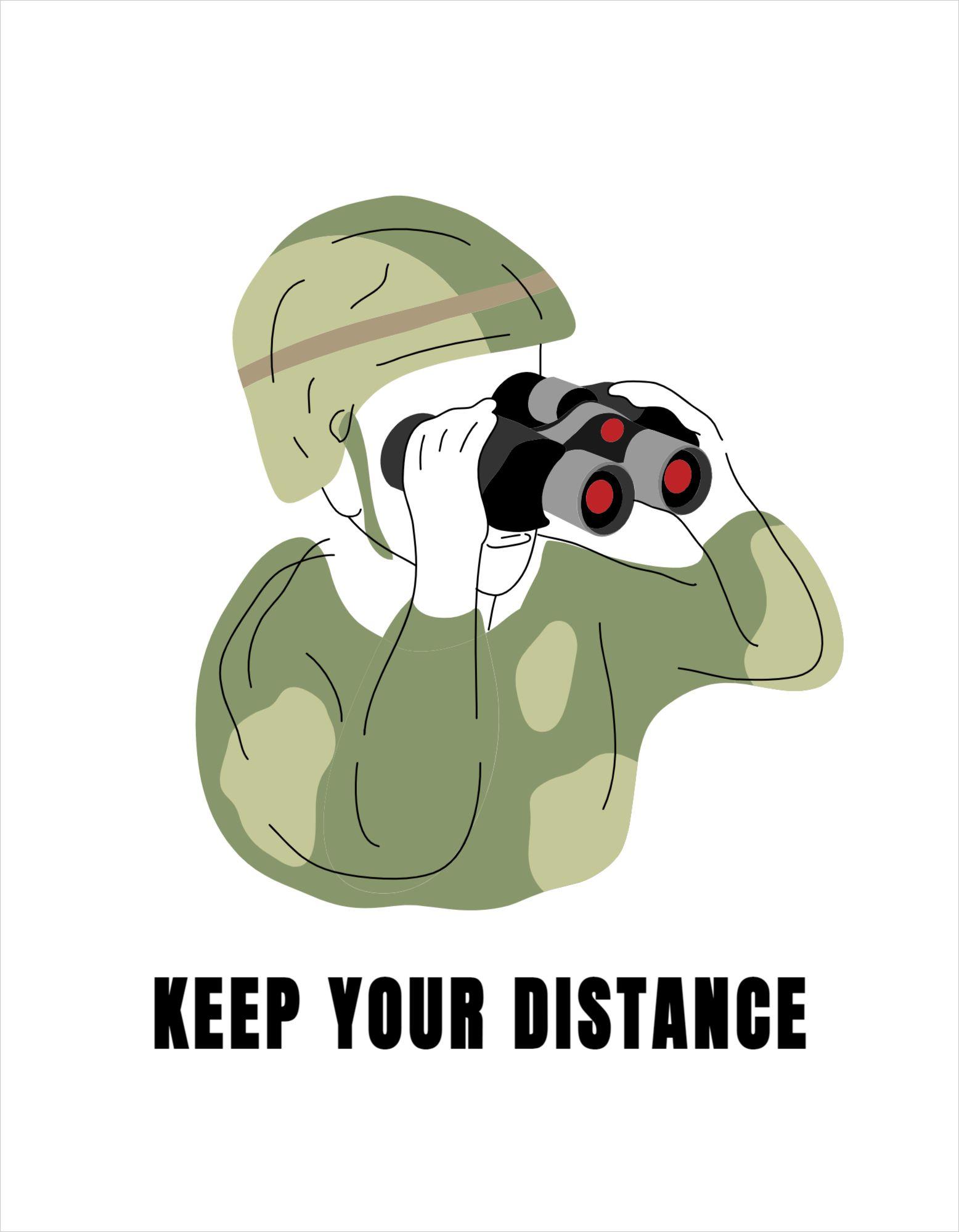 Keep Distance T-shirt Design Template