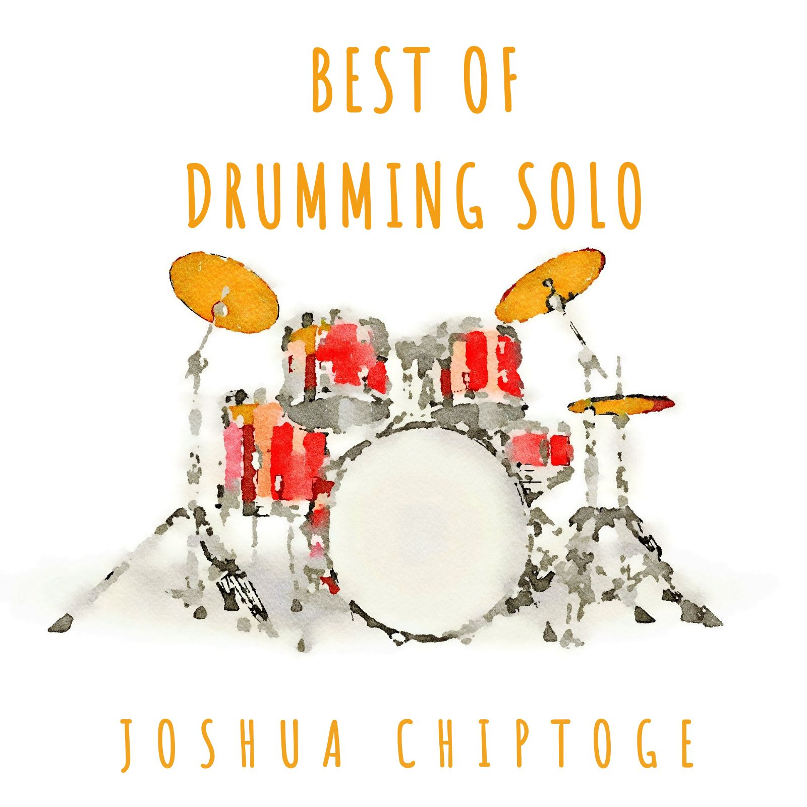 Drumming Themed CD Cover Template