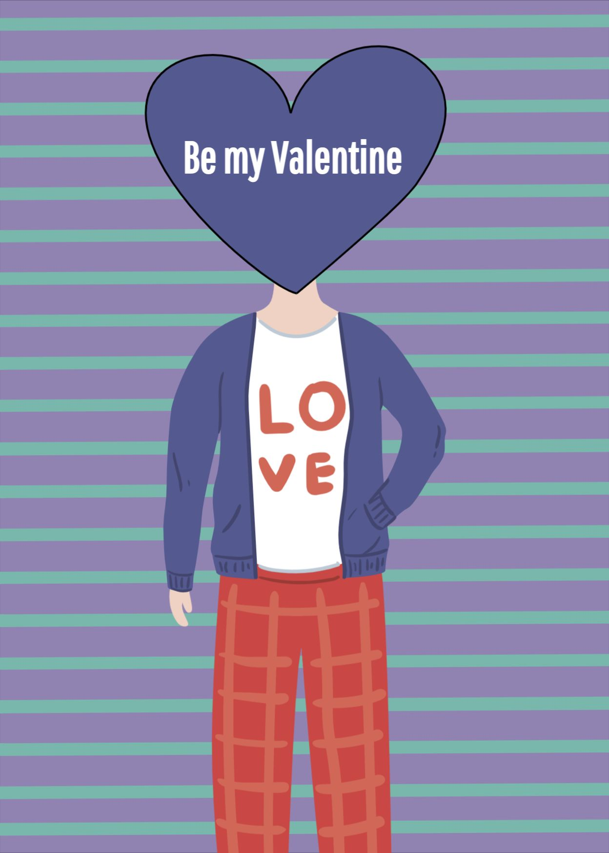 Be My Valentine Greeting Card Template