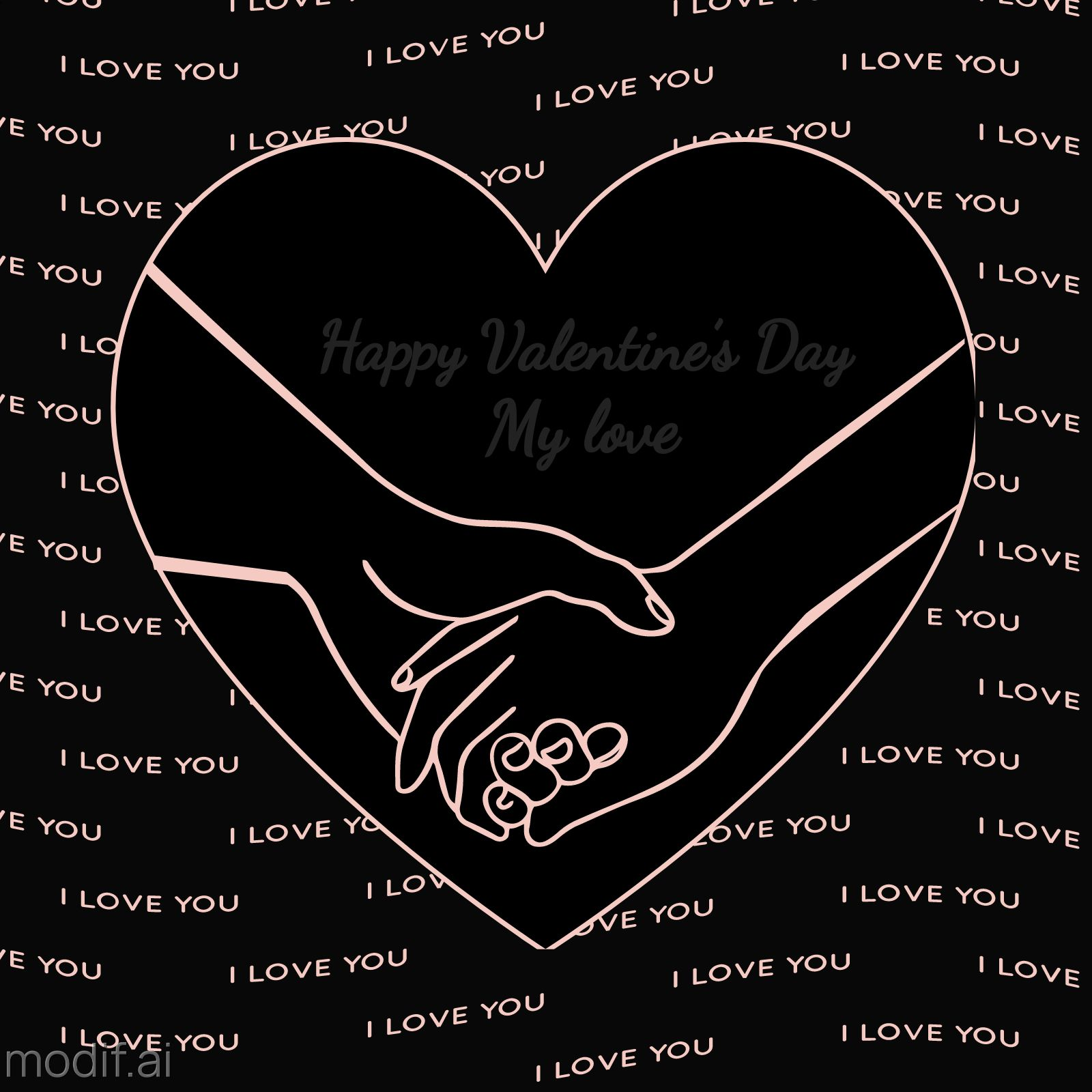 Valentines Day Template Greeting Card