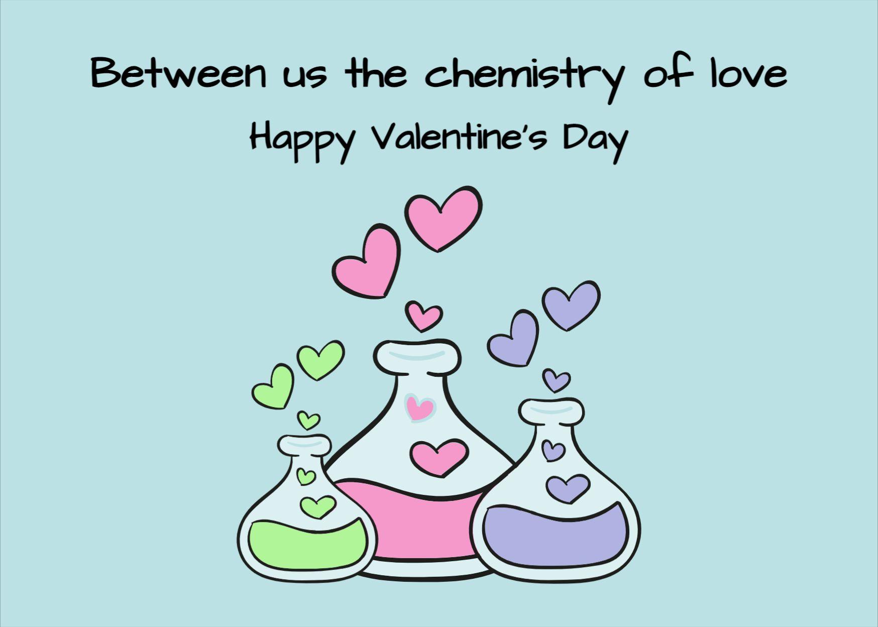 Love Chemistry Template Postcard