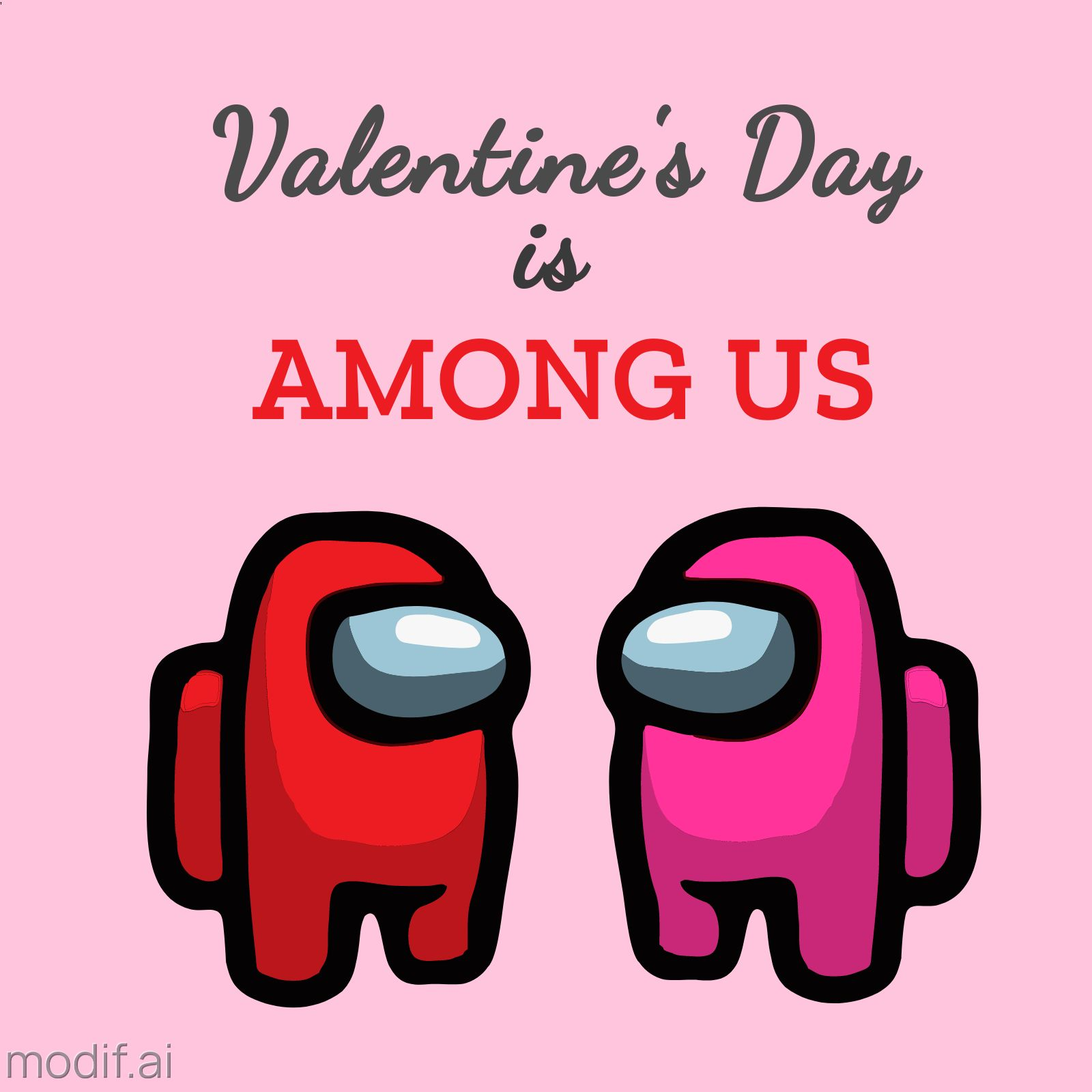 Among Us Valentines Day Template