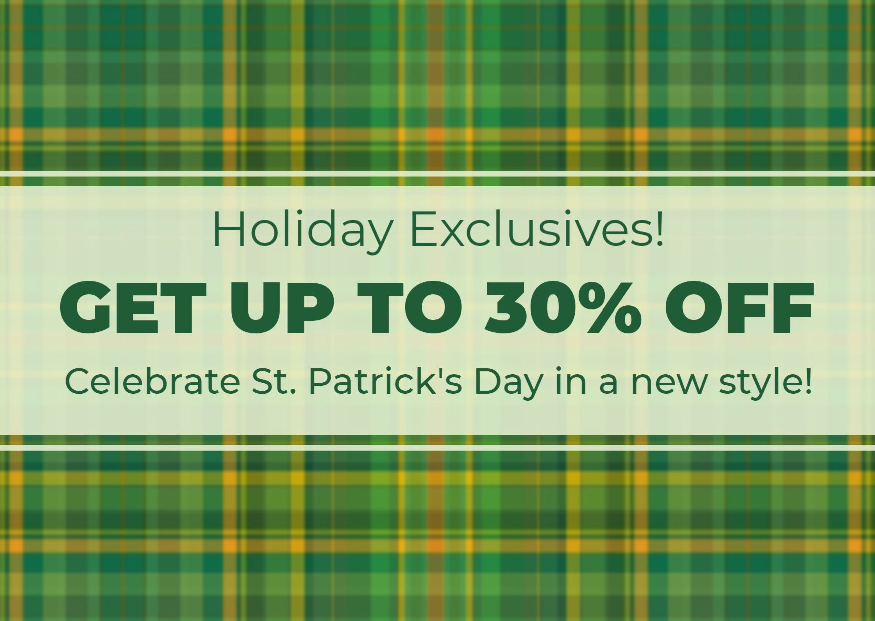 St. Patricks Day Discount Offer Design Template