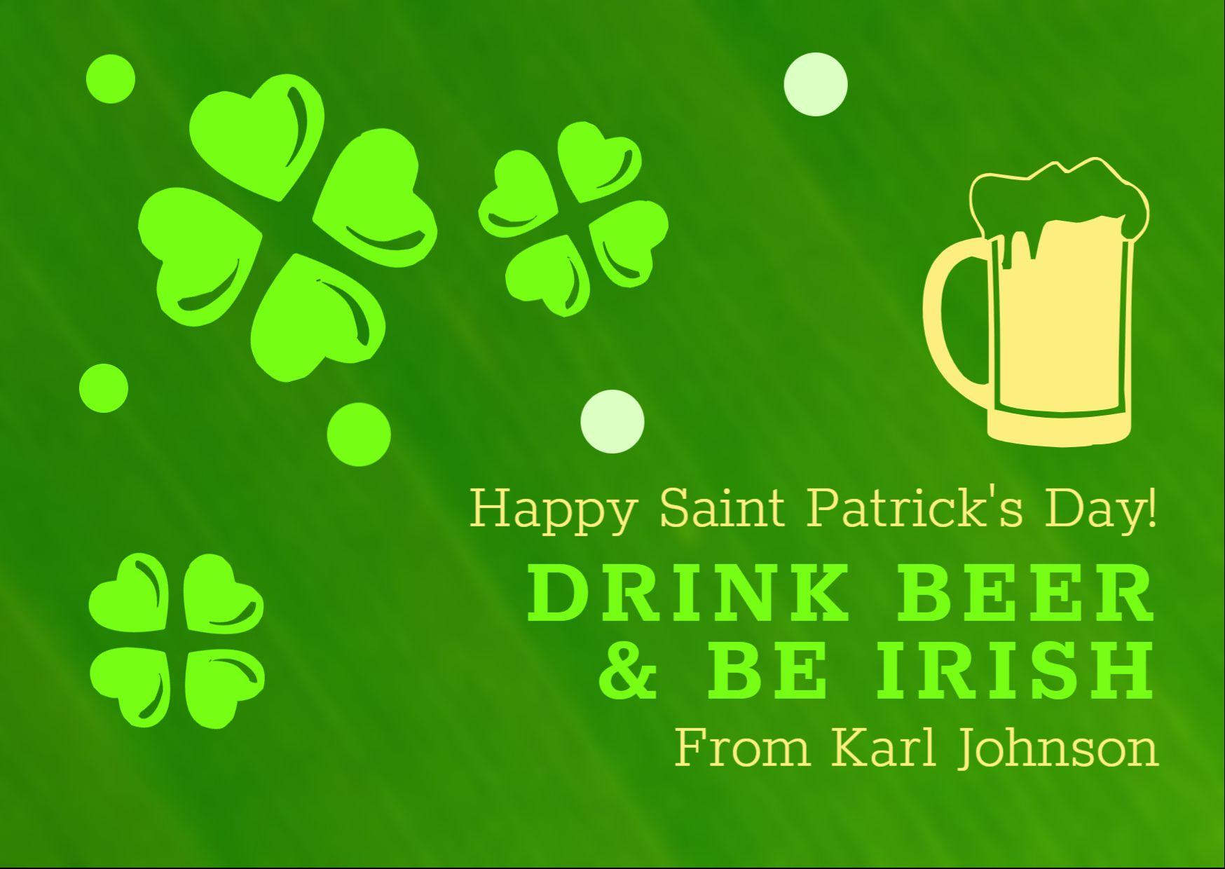 St. Patricks Day Social Media Template