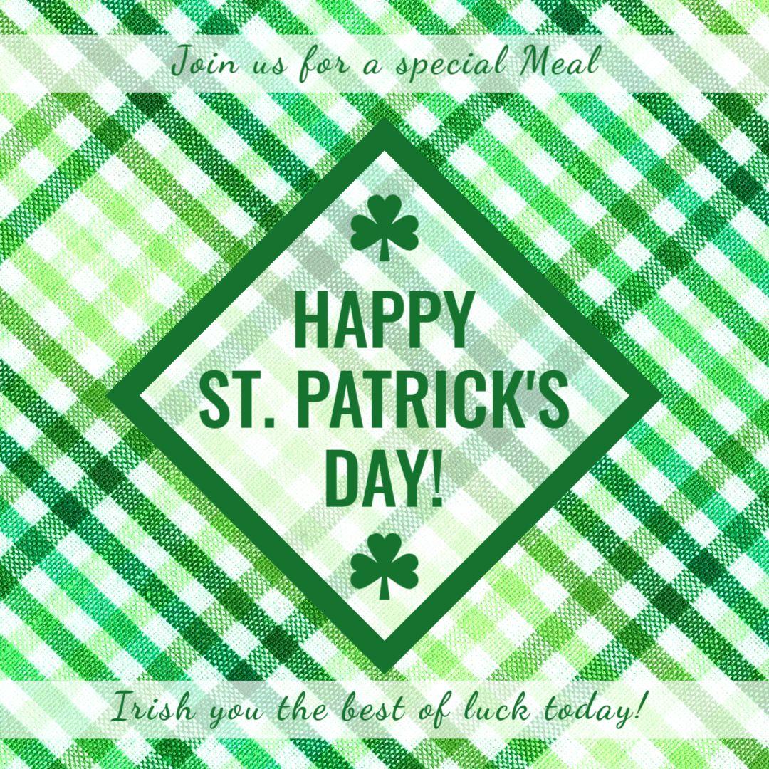 St. Patricks Day Greetings Design Template