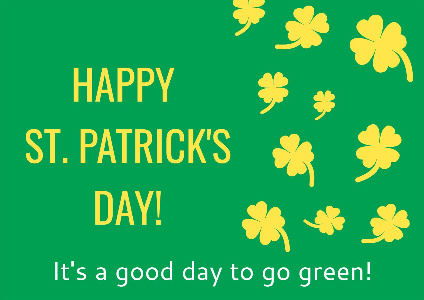St. Patricks Day Greetings Card Design Template