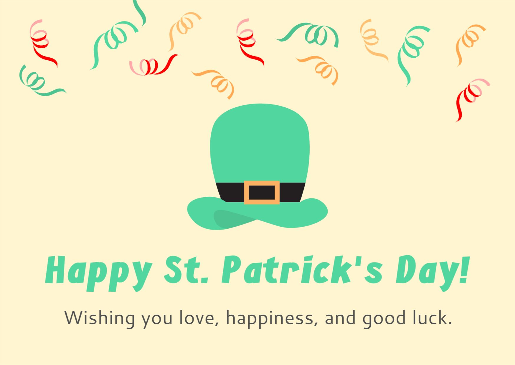 St. Patricks Day Greetings Card Template