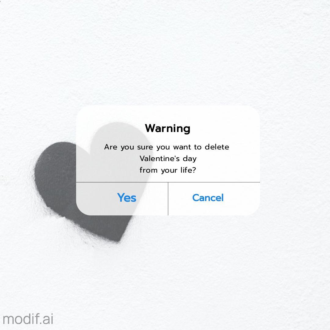Creative Valentine Warning Instagram Post