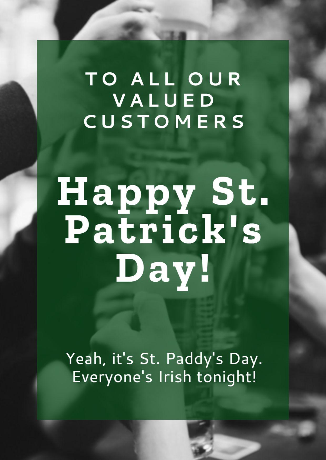 St. Patricks Day Invitation Card Template