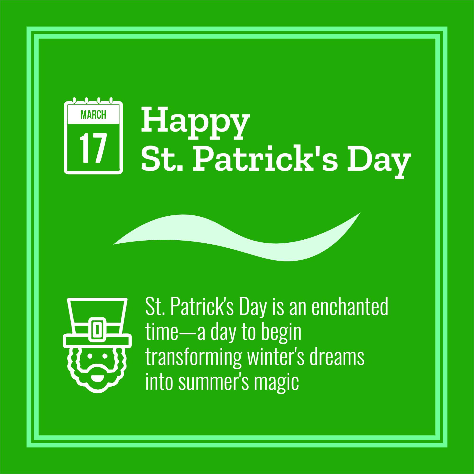 St. Patricks Day Instagram Template