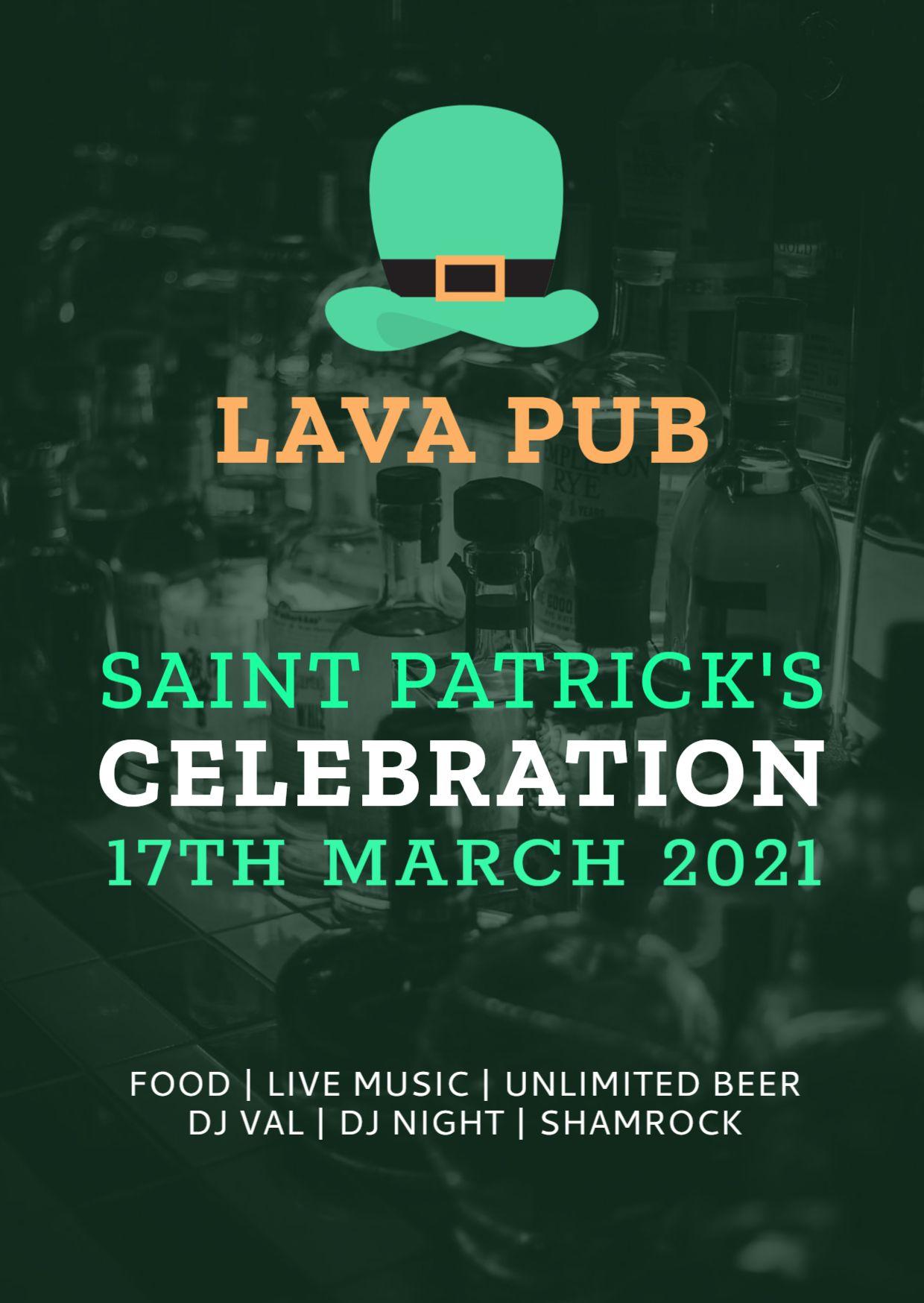 St. Patricks Day Invitation Flyer Template