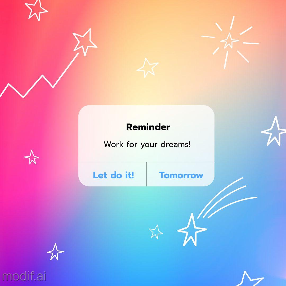 Dream iPhone Reminder Instagram Post Template
