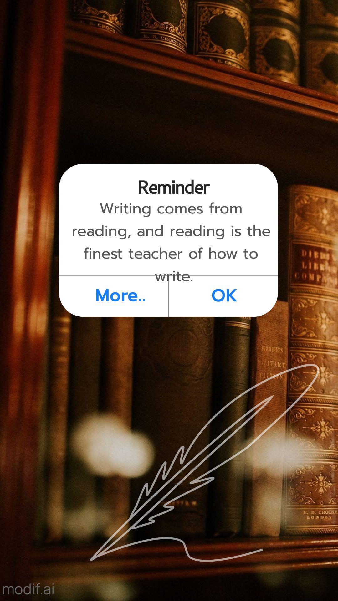 Writing Motivation Instagram Story Notification