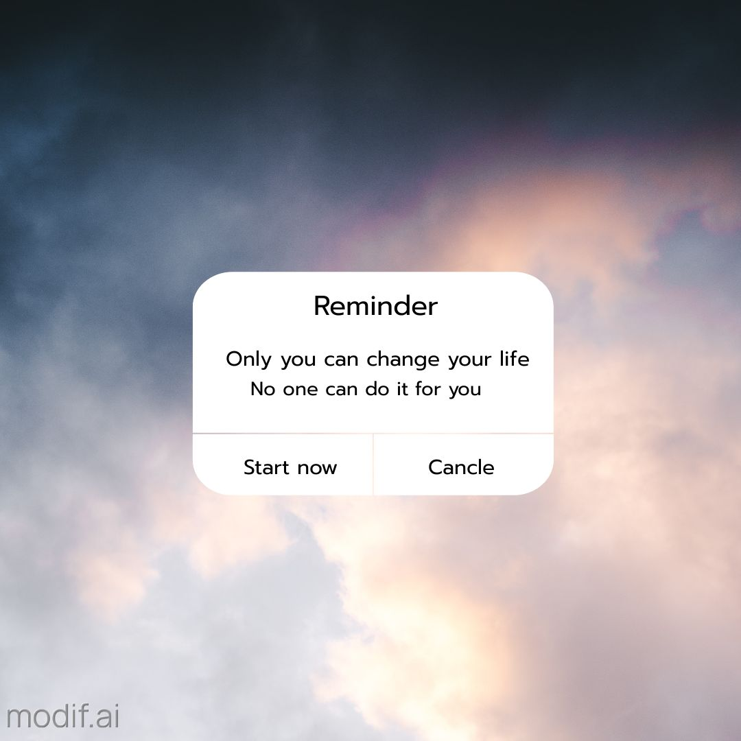 Change Your Life iPhone Reminder Template