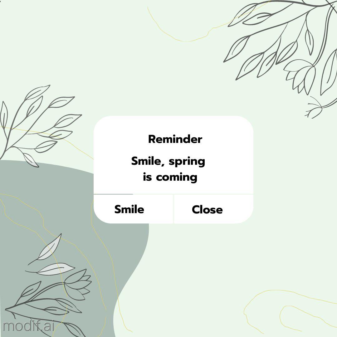 Spring Reminder Template
