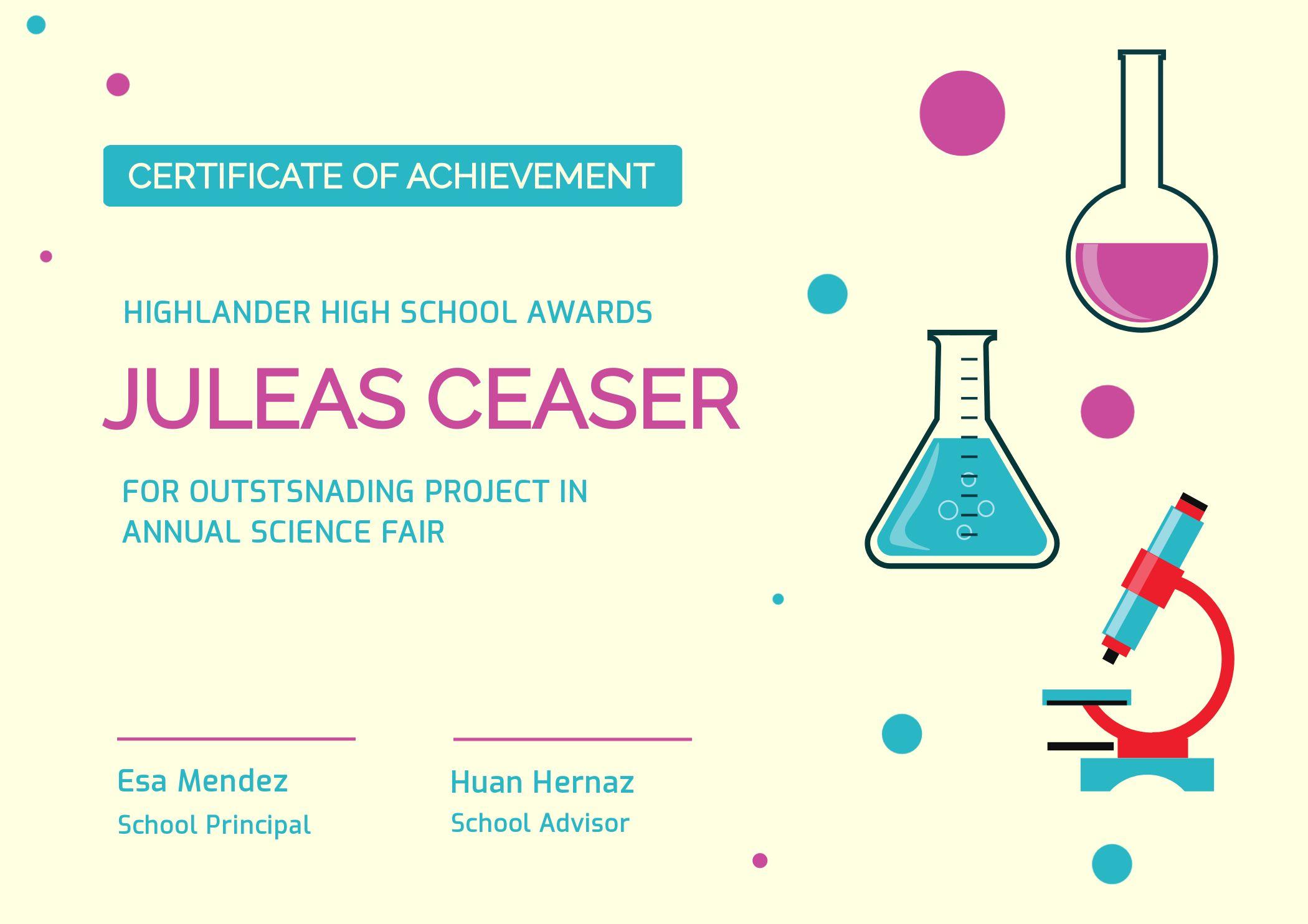 Education Achievement Certificate Template