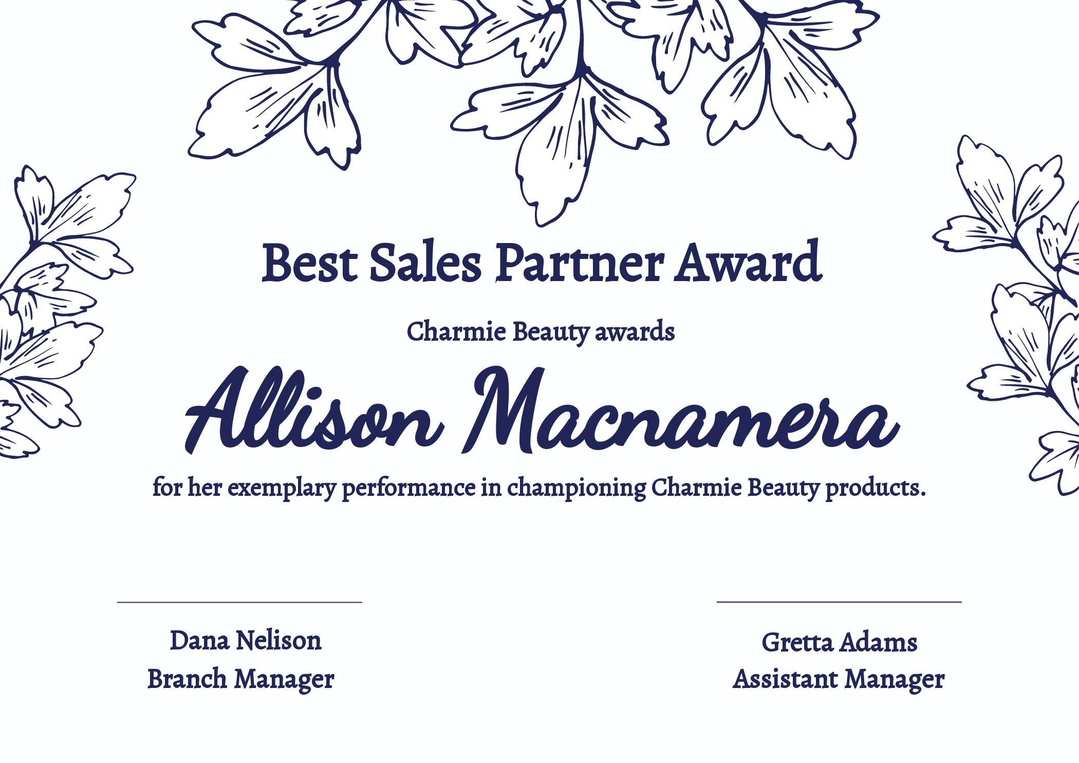 Certificate Best Sales Template