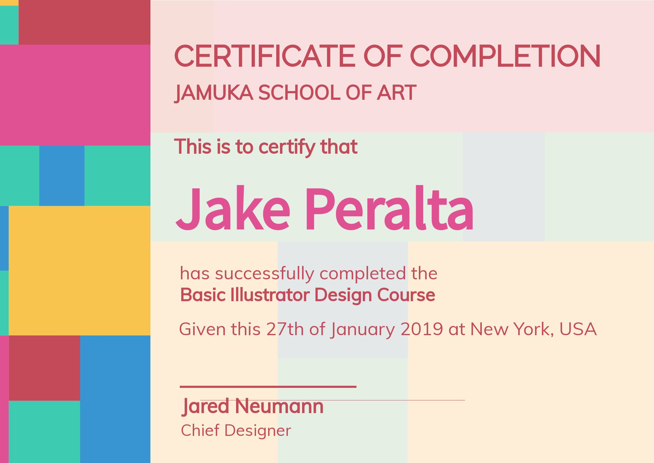 Online Certificate of Completion Template