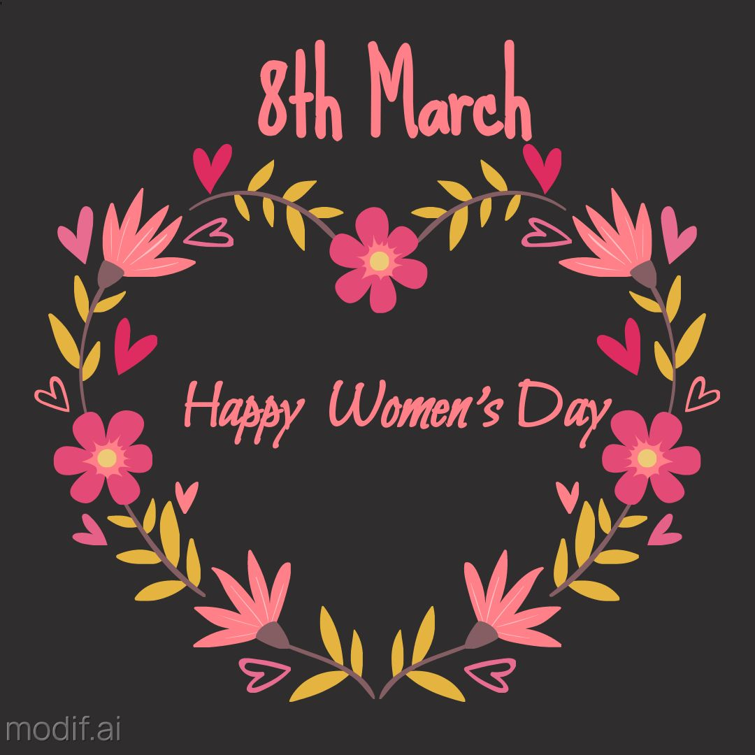 Heart Happy Woman day