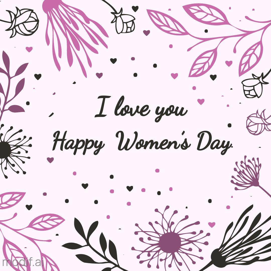 Flower Happy Womens Day