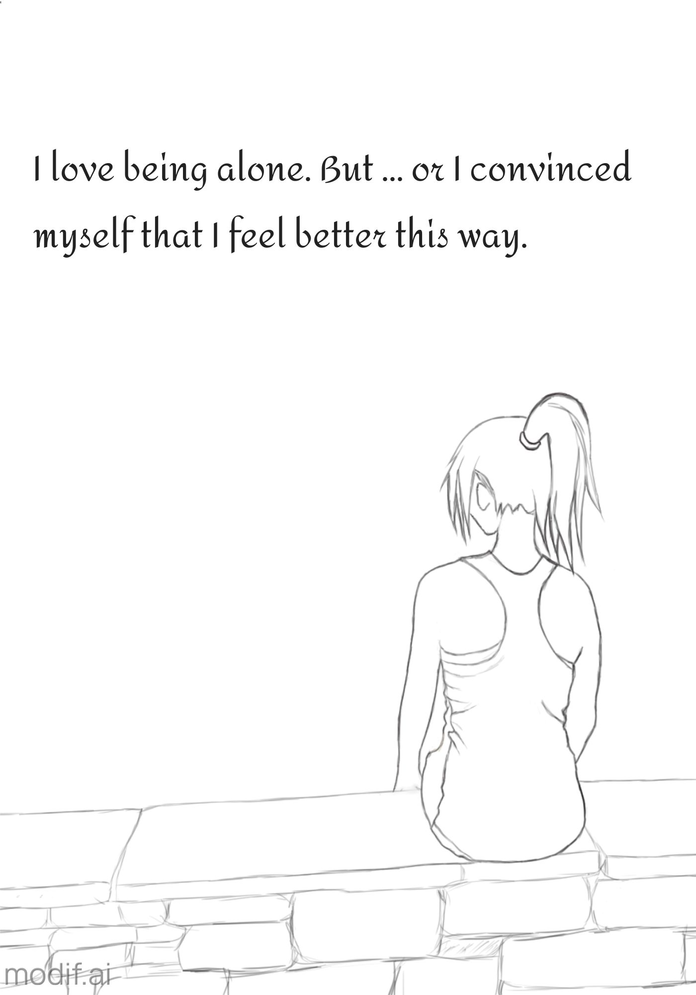 Girl Alone Wall Poster Template