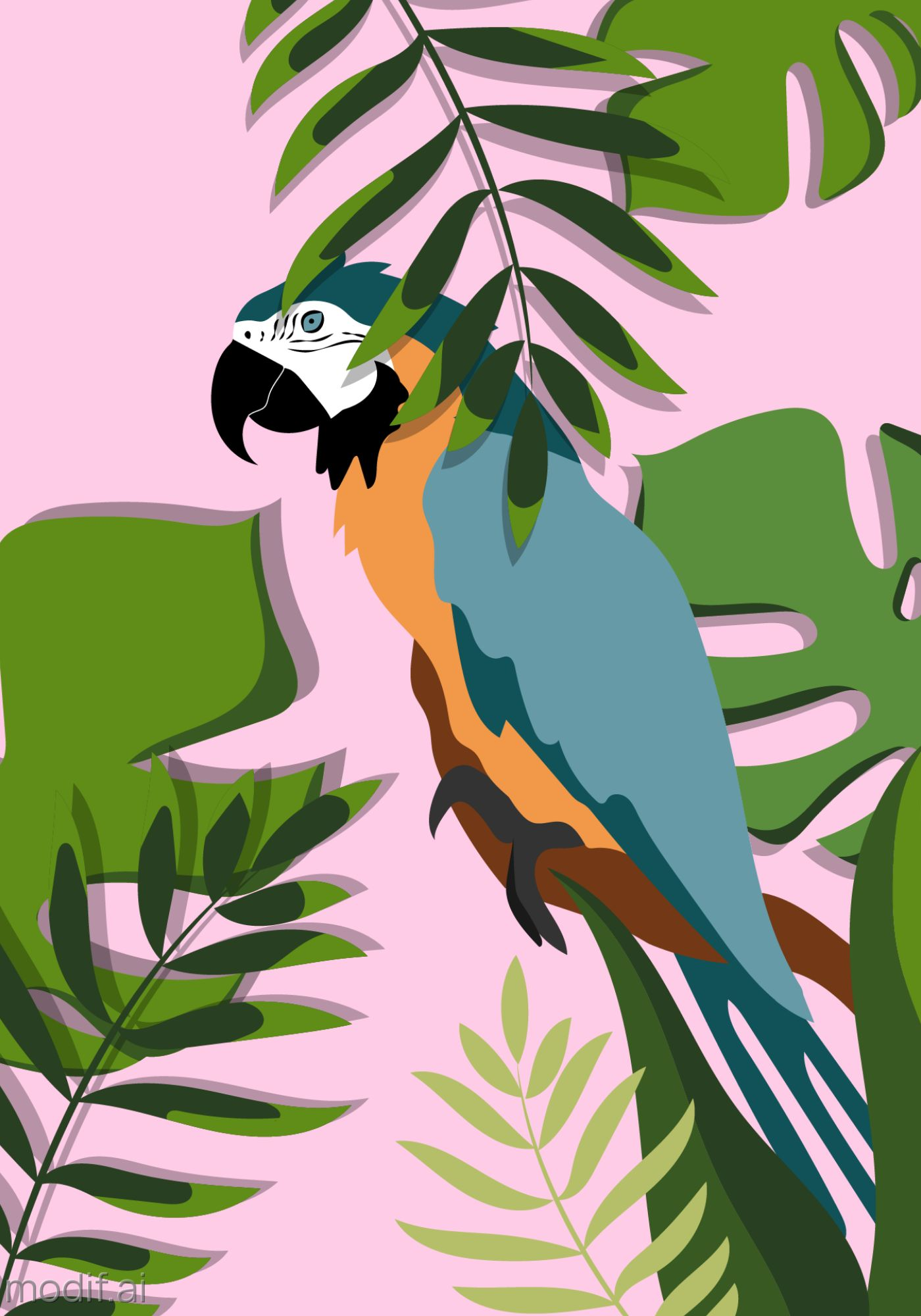 Exotic Parrot Poster Template