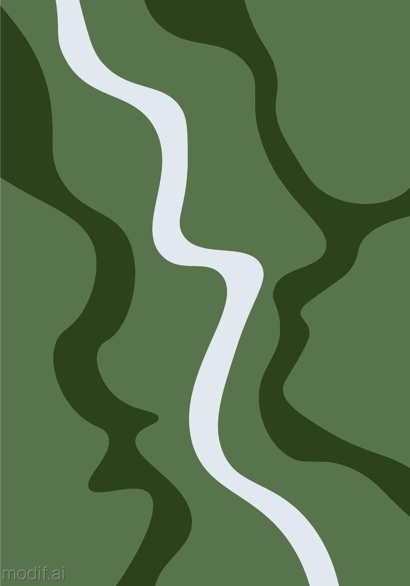 Minimal River Art Wall Poster Template