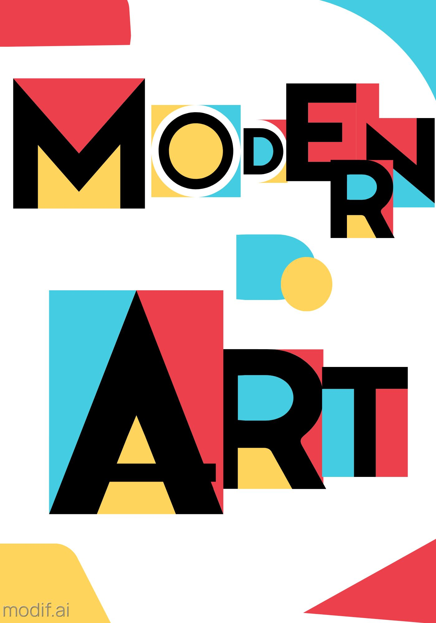 Modern Art Wall Poster Design Template
