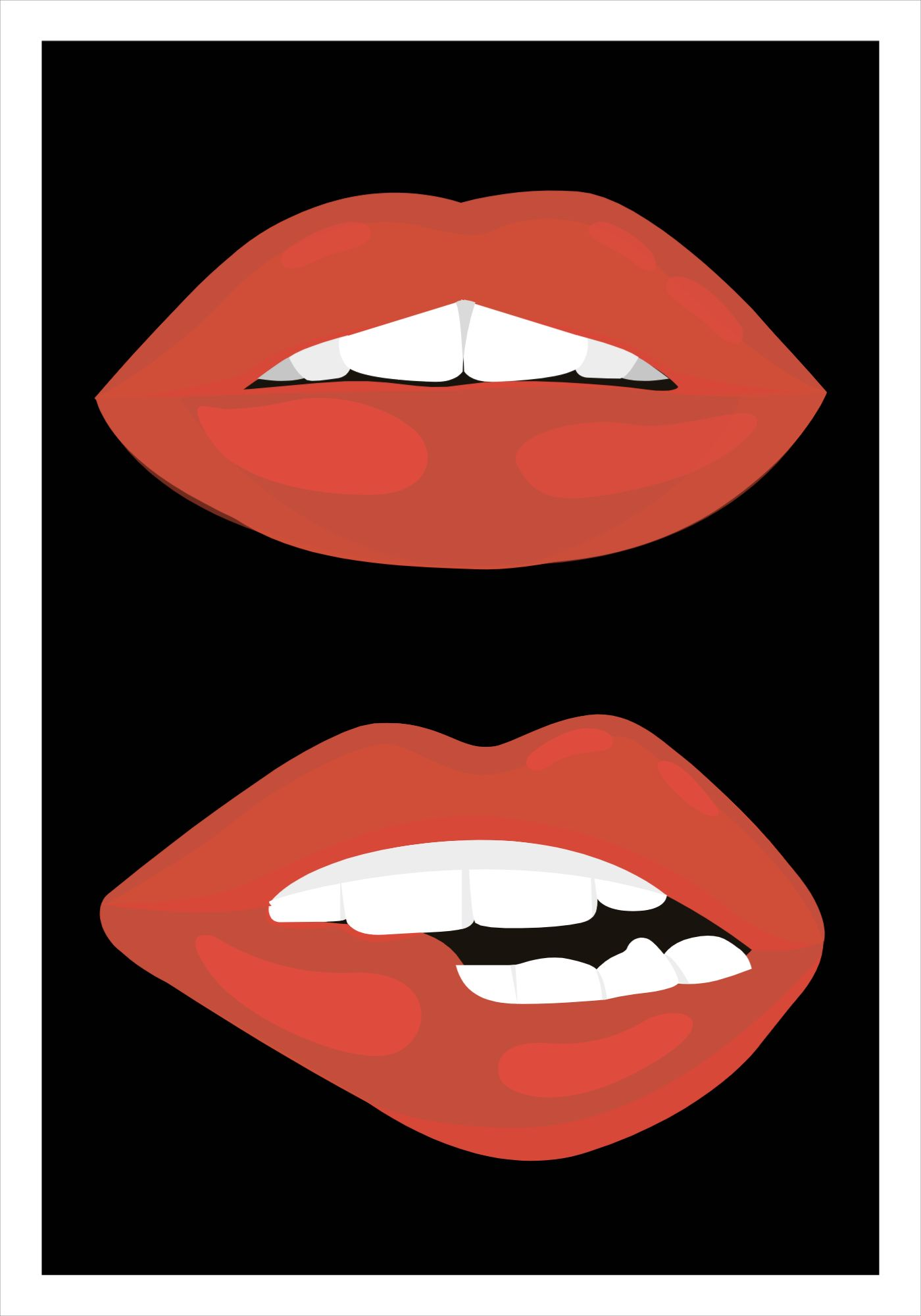 Lips Poster Template