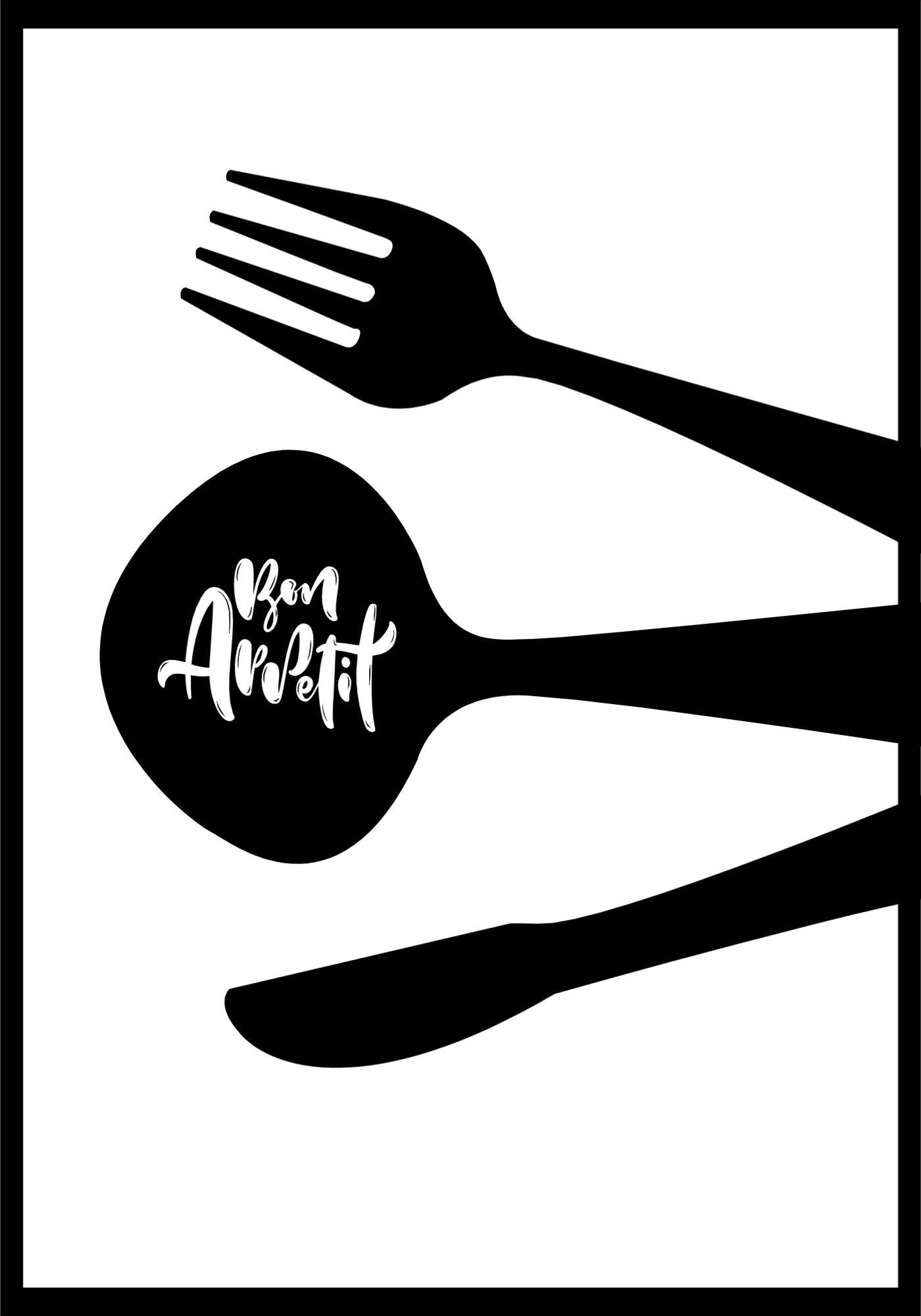 Kitchen Poster Design Template