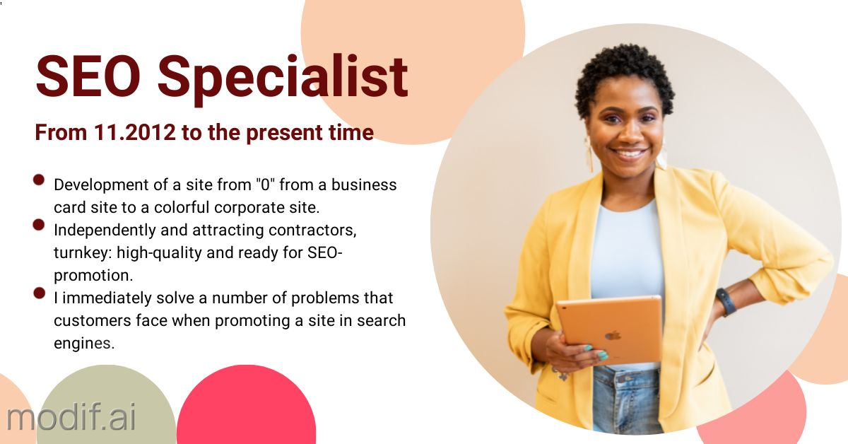Post LinkedIn Promoting SEO Specialist Services