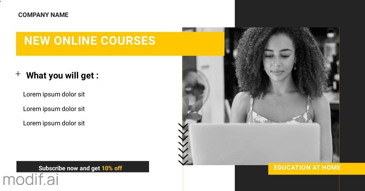 Online Courses LinkedIn Template