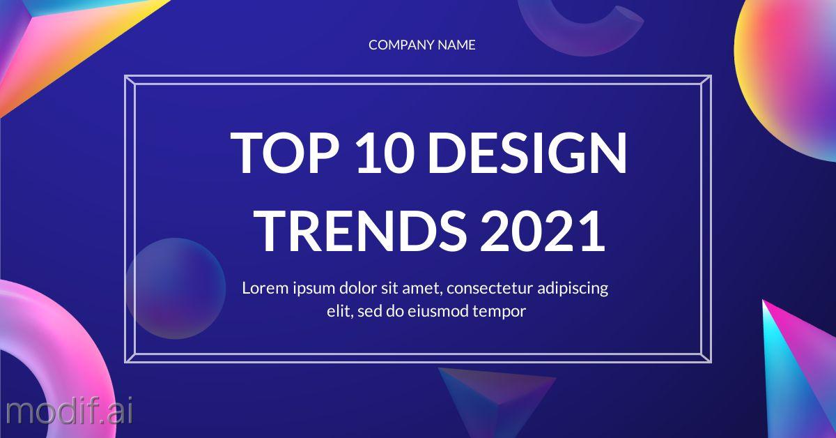Top Design Trends LinkedIn Template