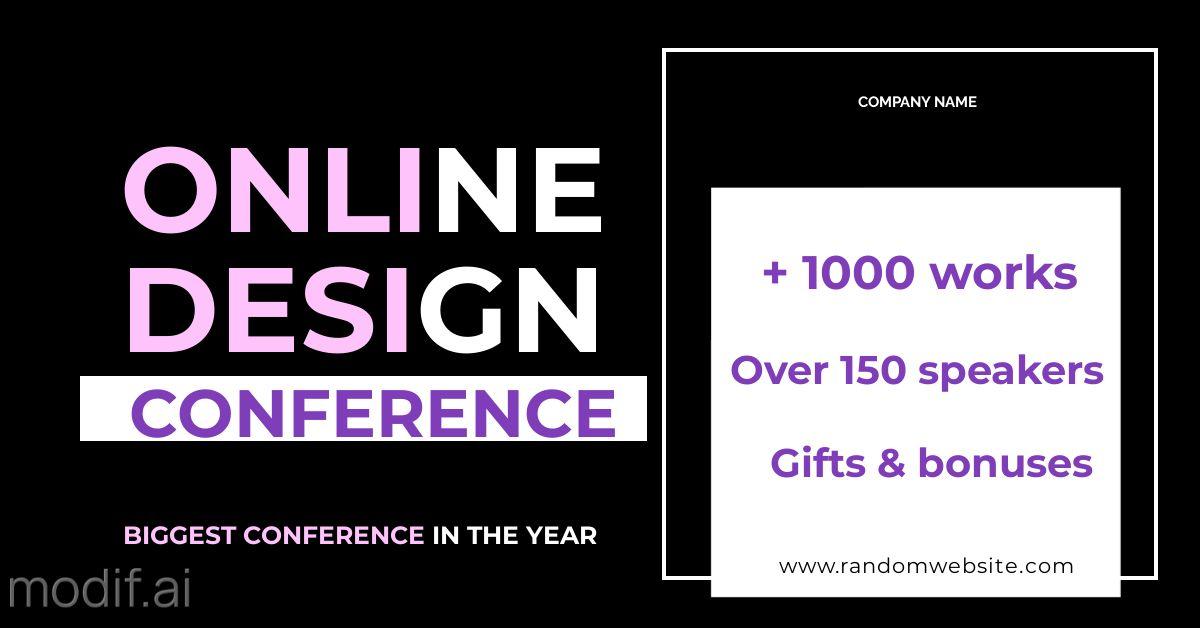 Online Conference LinkedIn Template
