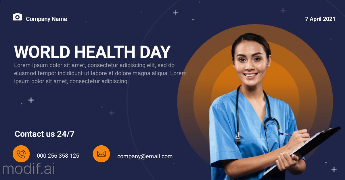 Health Day LinkedIn Post Template