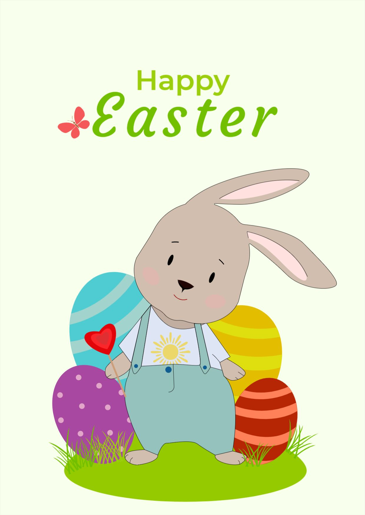 Easter Day Greetings Card Template