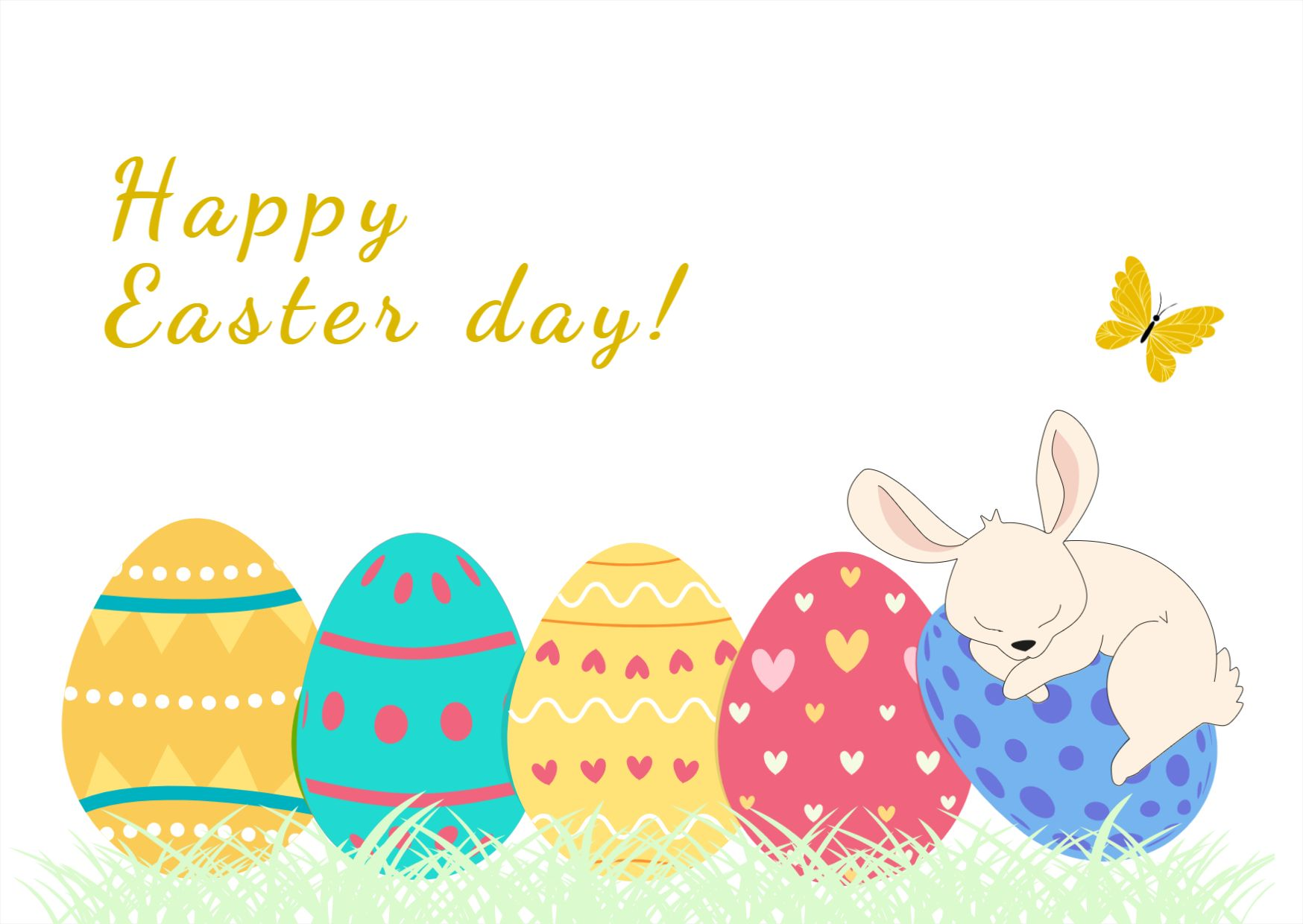 Happy Easter Card Template