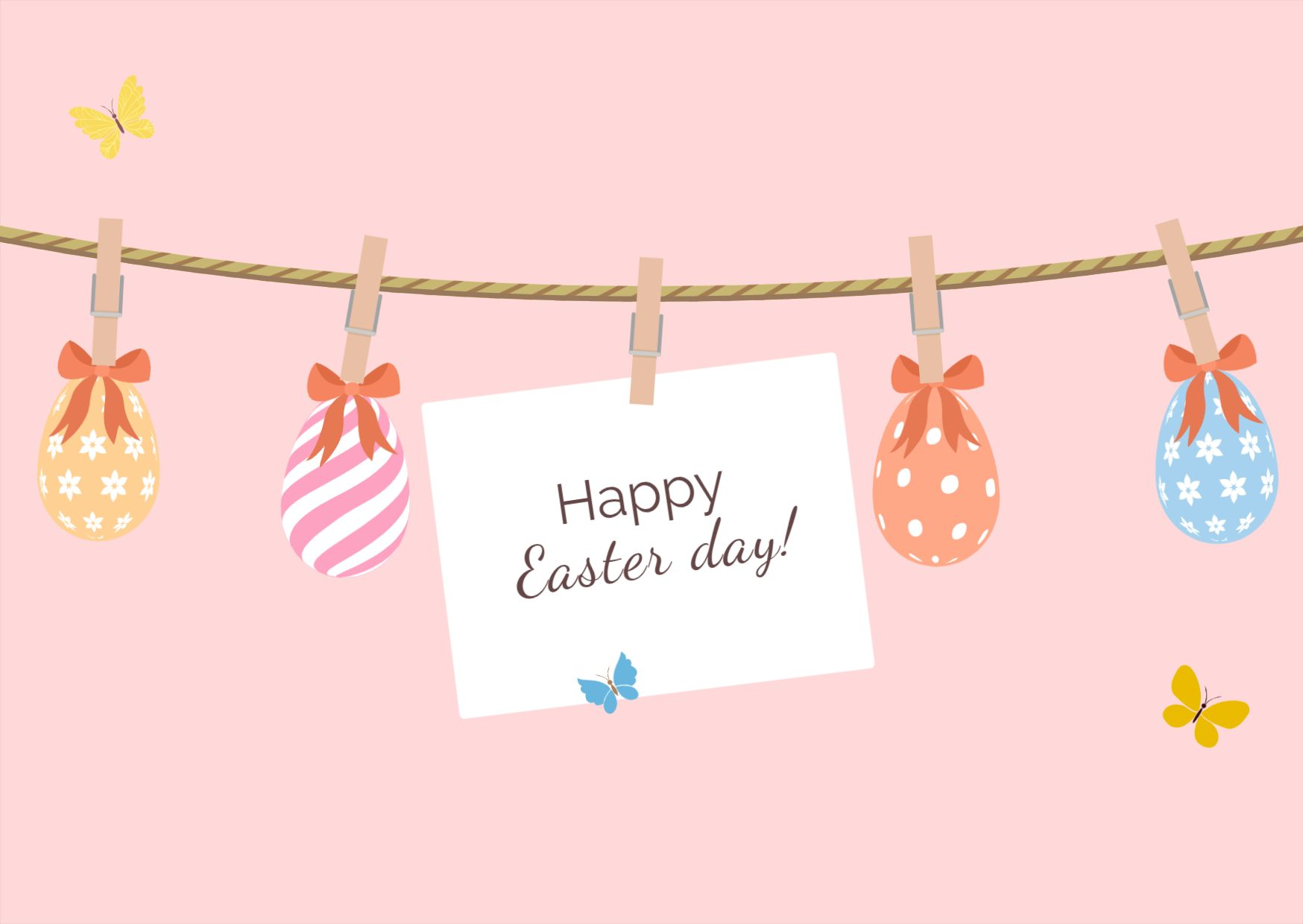 Happy Easter Day Greetings Template