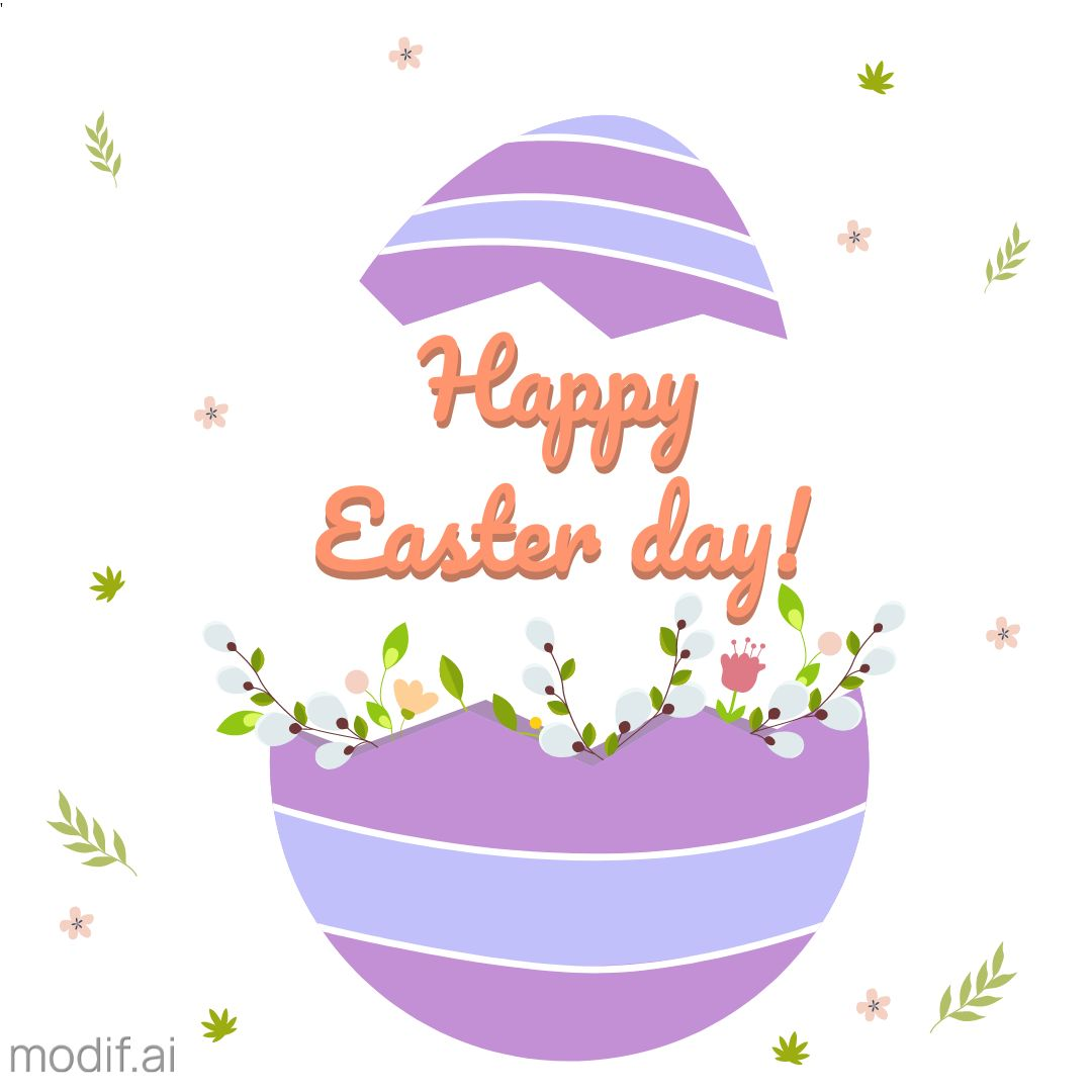 Happy Easter Day Card Template