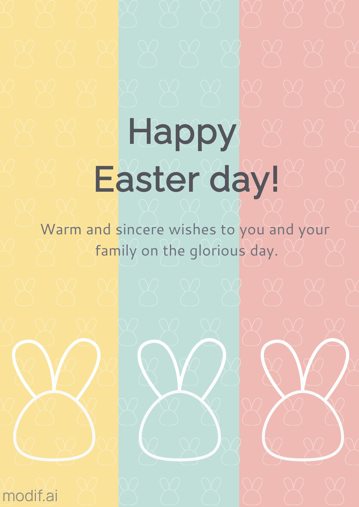 Pastel Color Easter Day Template