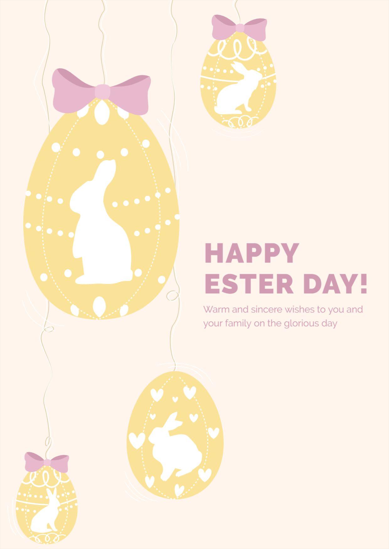Minimal Easter Postcard Template