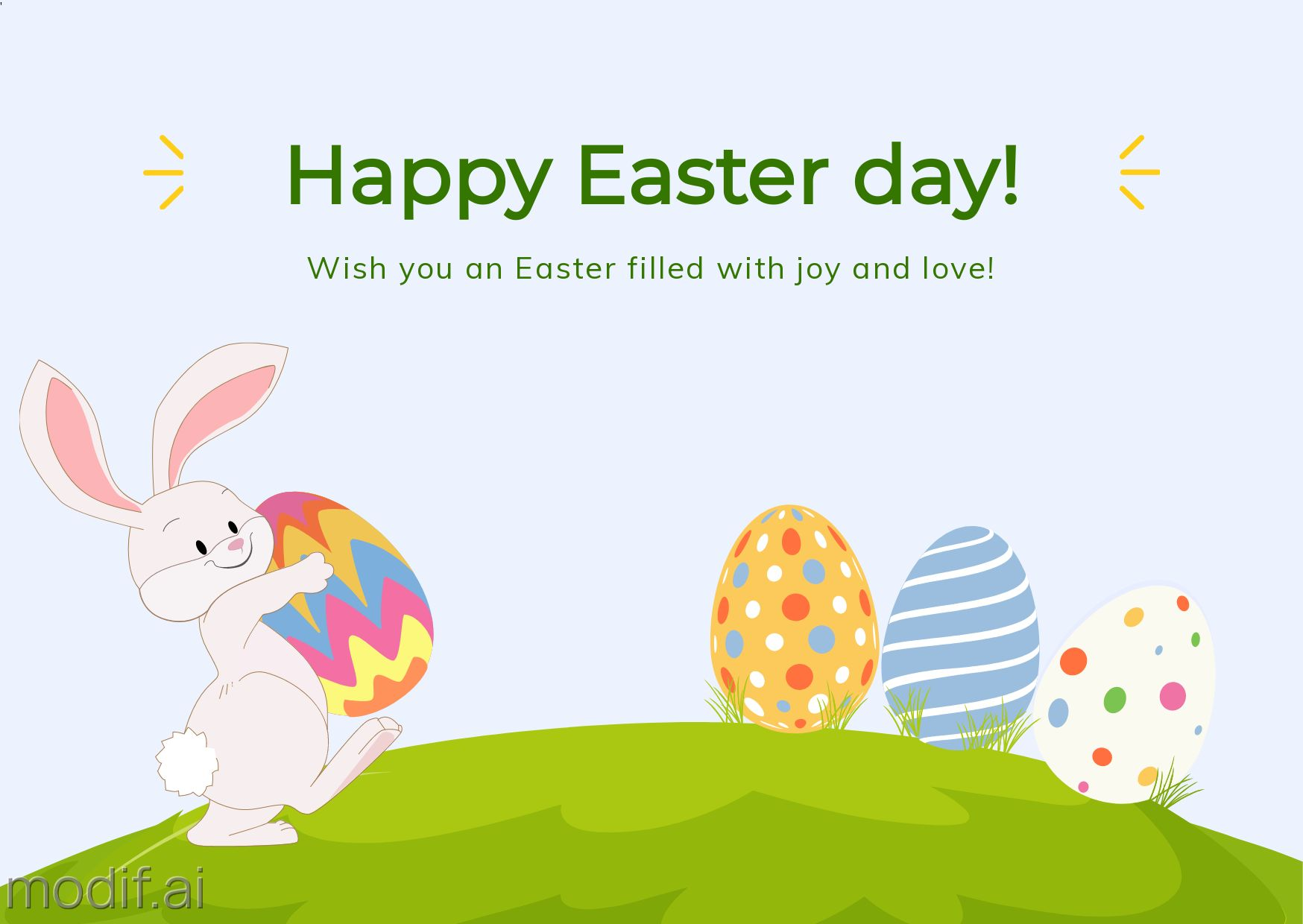 Easter Card Template With Bunny